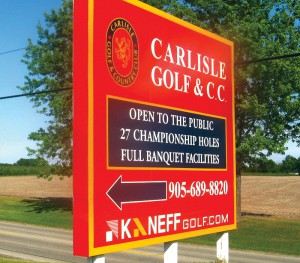 Carlisle Golf & C.C. Outdoor Sign
