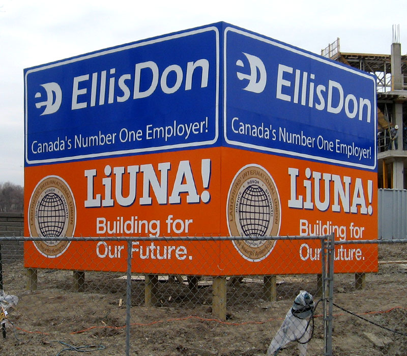 EllisDon/Liuna Construction Site Signs – KD Sign Systems Inc