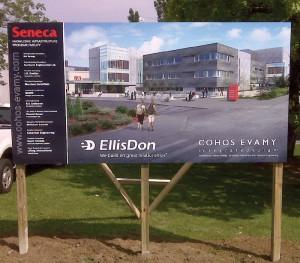 EllisDon Construction Site Sign
