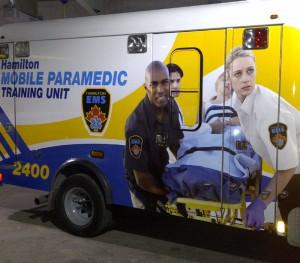 Hamilton Mobile Paramedic Training Unit Ambulance Wrap