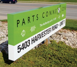 Parts Connection Outdoor Sign