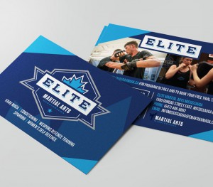 Elite Martial Arts Mississauga Postcard Design
