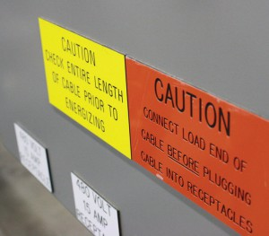 Engraved Acrylic Machinery Labels