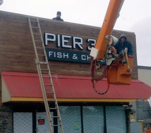 Pier 39 Fish & Chips Channel Letter Sign Installation