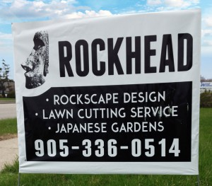 Rockhead Landscaping Lawn Signs